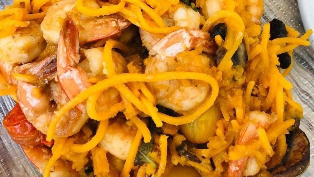 Gemi Bertran's Recipe: Shrimp Boodles with Basil
