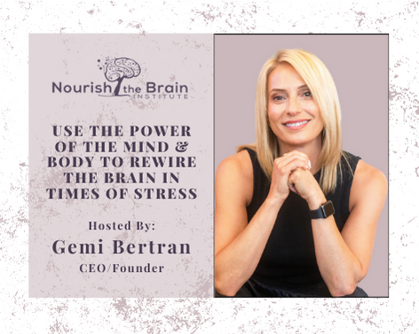 Use the power of mind & body hosted by Gemi Bertran
